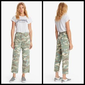MOTHER Patch Pocket Private Ankle Fray Camouflage